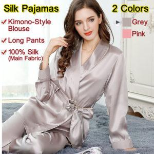 Men/'s Silk Pajamas Sleepwear Nightdress 2pc Shirt/&Pants,100/% Silk,5 Colors,真丝睡衣