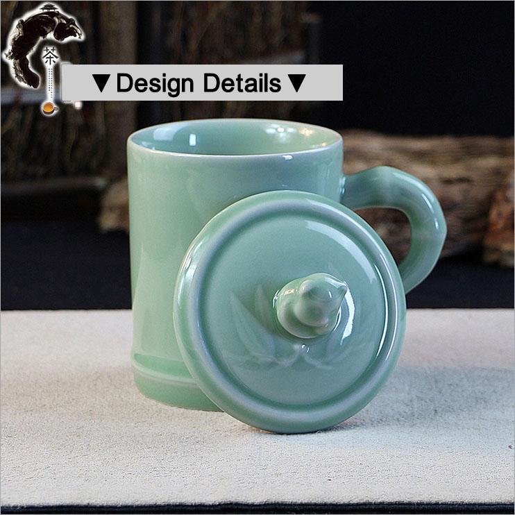 Chiese Gongfu Teacup Longquan Celadon Porcelain Tea Cup 80cc